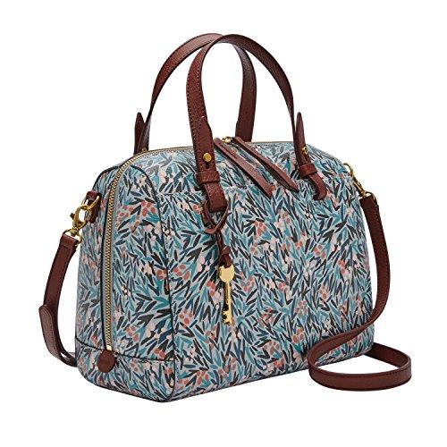 Relic by Fossil Fossil Rachel Satchel Handbag, blue floral