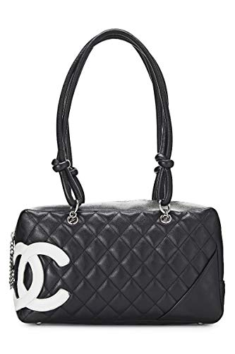 CHANEL Black Quilted Calfskin Cambon Ligne Bowler (Pre-Owned)