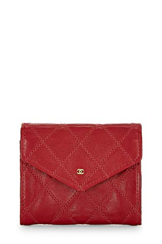 CHANEL Red Lambskin Coin Purse (Pre-Owned)
