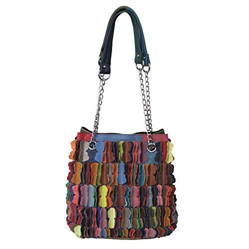 Amerileather Papiillon Leather Shoulder Bag