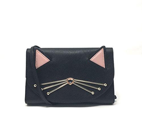 Kate Spade Black Cat Jazz Things Up Winni CrossBody Clutch Handbag