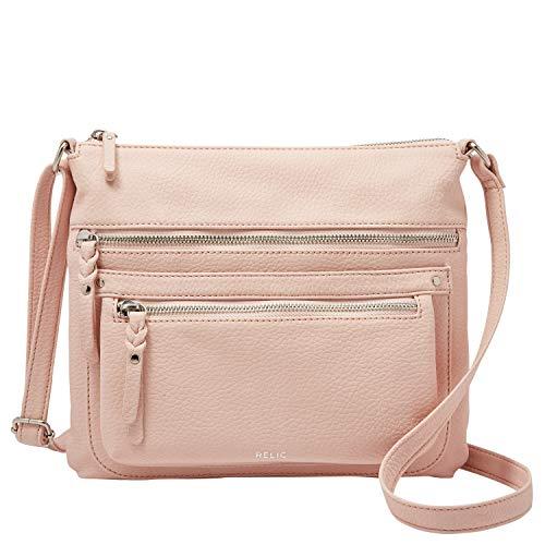 Relic by Fossil Women's Riley Crossbody Handbag Purse, Color: Blush