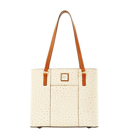 Dooney & Bourke Small Lexington Ostrich Emb Leather Tote Pearl
