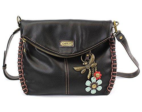 Chala Charming Crossbody Bag with Dragonfly Black