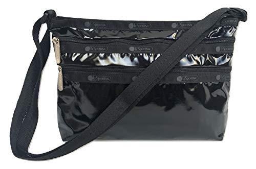 LeSportsac Black Patent Quinn Crossbody Handbag, Style 3352/Color 9908 (Iridescent)