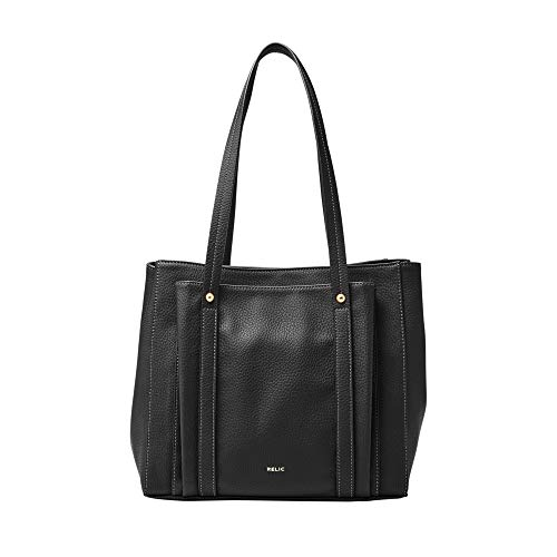 Relic by Fossil Women's Bailey Double Shoulder Handbag Purse, Color: Black