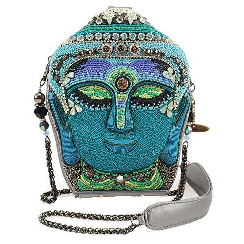 MARY FRANCES Good Karma Embellished Buddah Shoulder Handbag