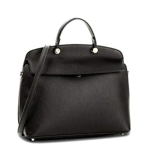 Furla My Piper Ladies Medium Black Onyx Leather Shoulder Bag 960202
