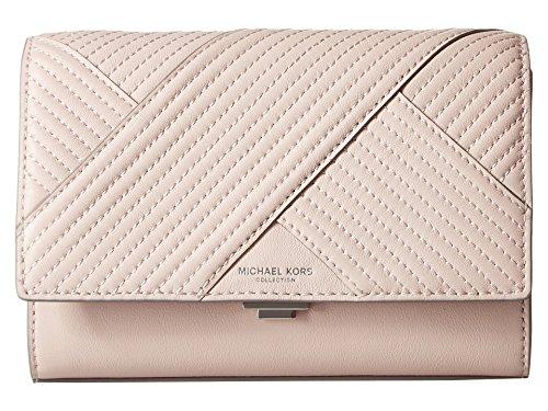 Michael Kors Yasmeen Small Leather Clutch Shoulder Bag – Pink
