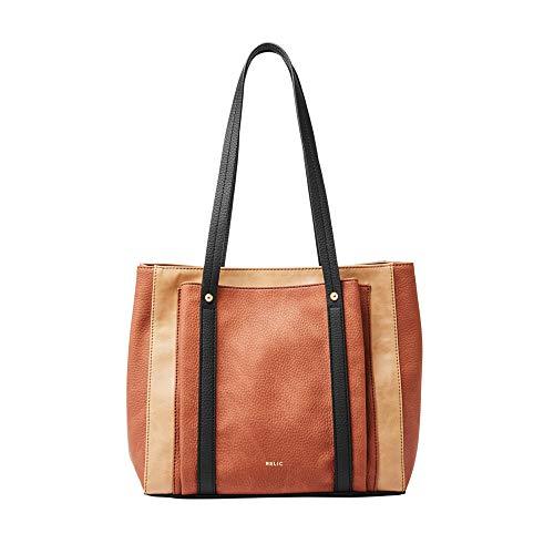 Relic by Fossil Women's Bailey Double Shoulder Handbag Purse, Color: Neutral Multi