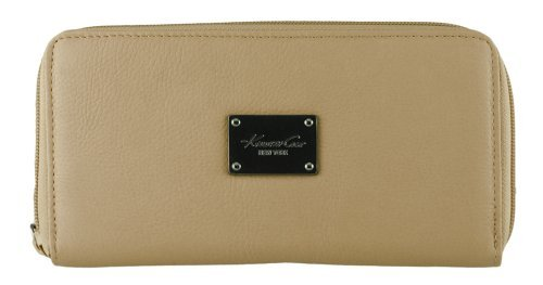 Kenneth Cole New York Tan Genuine Leather Call Me Maybe Wallet w/ Phone Pocket