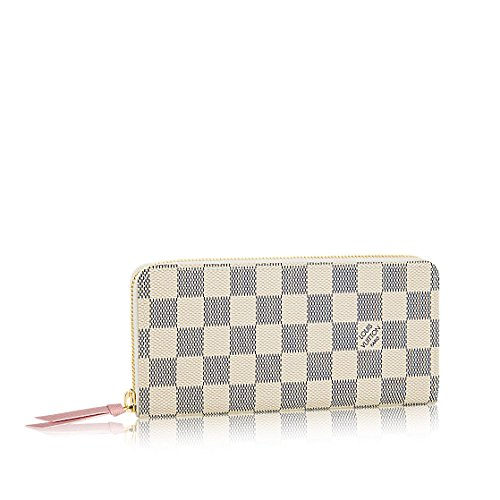 Louis Vuitton Damier Azur Canvas Rose Ballerine Clemence Wallet N61264