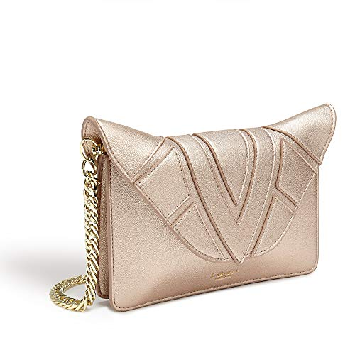 LaBante – Monarch- Vegan Leather Crossbody bags for women – rose gold purse quilted bag small crossbody purse side bag evening clutch crossover bag rose gold wallet