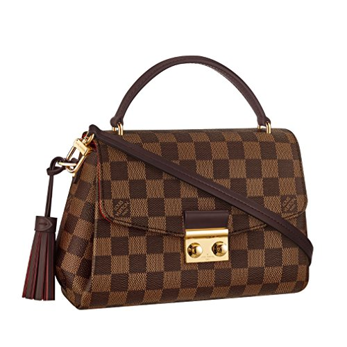 Louis Vuitton Damier Ebene Canvas Croisette Hand Carry Shoulder Handbag Article:N53000 Made in France