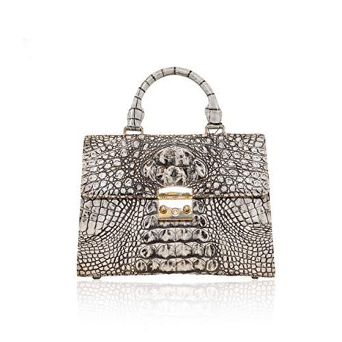 KGIEM Women's Real Alligator Handmade Handbag Purse Bag K109