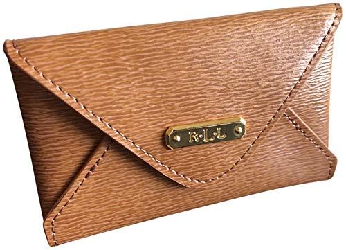 Lauren Ralph Lauren Professional Women's Leather Envelope Card Case Brown