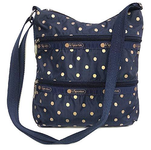 LeSportsac Speckle Dot Kylie Crossbody Handbag, Style 3244/Color D954 (Metallic Iridescent Gold Speckles)