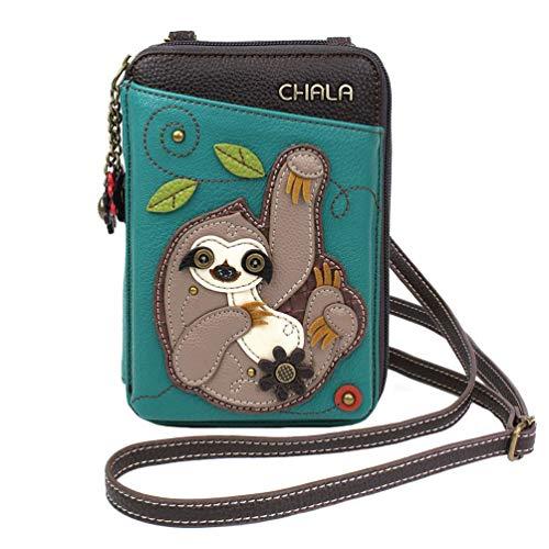 Chala Handbags Sloth Wallet Crossbody Handbag – Convertable Strap