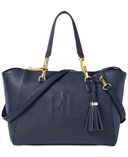 Lauren Ralph Lauren Leather Small Stefanie II Satchel (Navy)