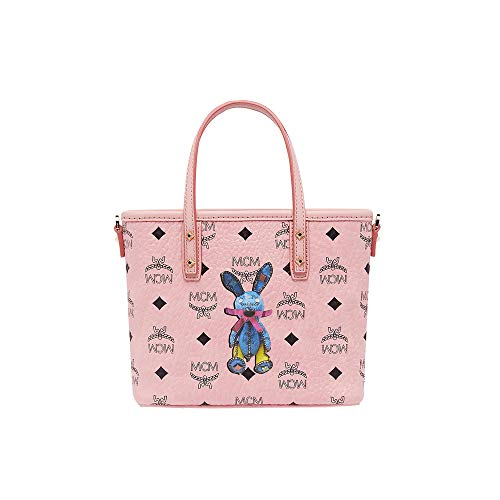 MCM Women Bags Mini Bags Rabbit Top Zip Shopper in Visetos