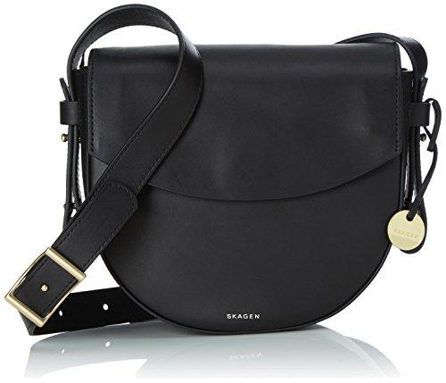 Skagen Lisabet, Women's Cross-Body Bag, Schwarz (Black), 6×18.5×20 cm (B x H T)
