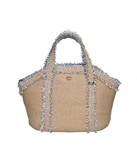 Eric Javits Luxury Fashion Designer Women's Handbag – Squishee Covet – Peanut Mix