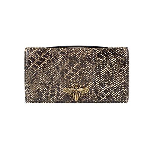 Chrisitan Dior Women'S Christian Dior Snakeskin Leather Embellished Pouchette Clutch Beige/Multi
