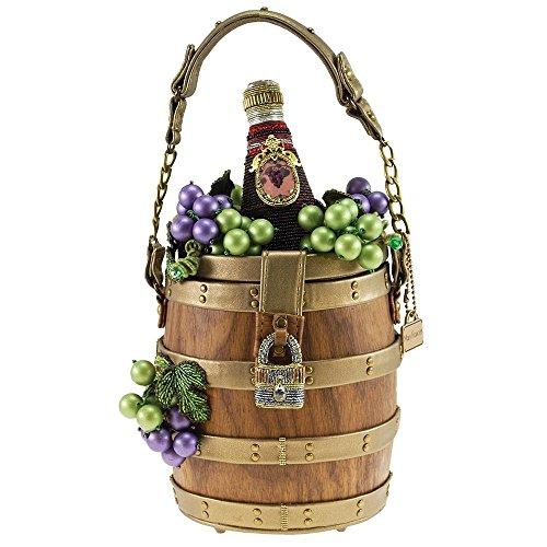 MARY FRANCES Aged To Perfection, Embellished Wine Barrel Novelty Handbag