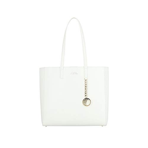 Versace Collection Women's Leather Tote Handbag White