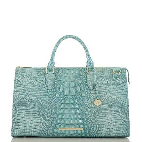 Brahmin Genuine Leather Anywhere Weekender Large Carryall Bag (Astral Melbourne)