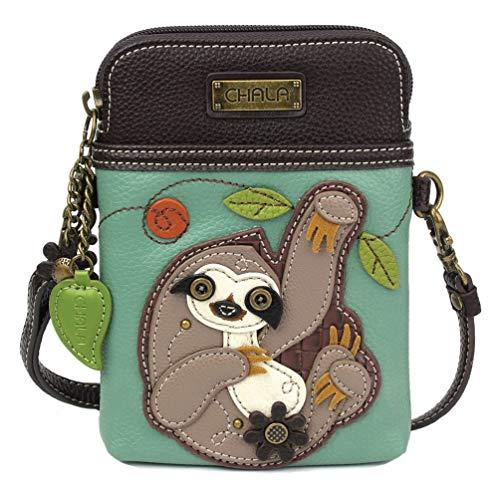 Chala Handbags Sloth Cellphone Crossbody Handbag – Convertible Strap Sloth Lovers