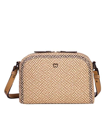 Eric Javits Luxury Fashion Designer Women's Handbag – Squishee Courbe – Peanut