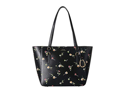 Ralph Lauren women's Bennington shopper Medium Black vintage Floral
