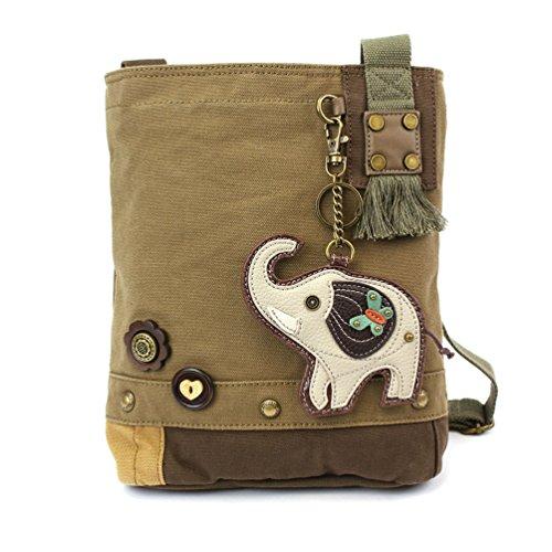 Chala Patch Crossbody Bag, Elephant, Olive