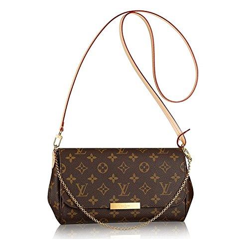 Louis Vuitton Favorite MM Monogram Canvas Cluth Bag Handbag Article: M40718 Made in France