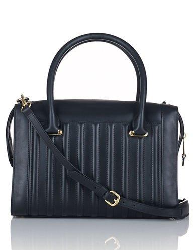 Lauren Ralph Lauren Willenhall Leather Satchel Black New