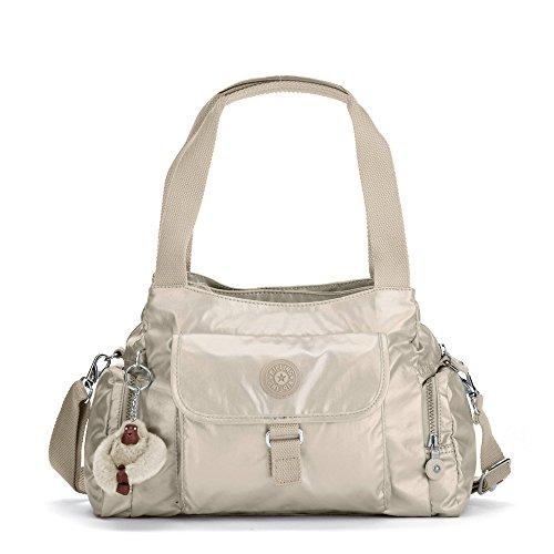 Kipling Felix Large Metallic Handbag One Size Gleaming Gold Metallic