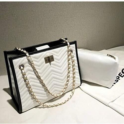 Diamond lattice women bag set fashion lady satchel 2 in 1 purse