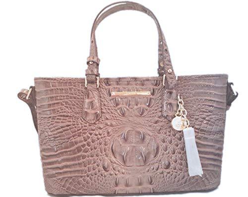 Brahmin Mini Asher Aubergine Melbourne Cross body Satchel handbag