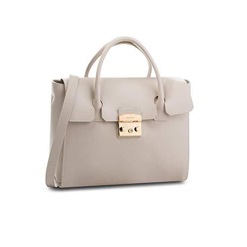 Furla Metropolis Ladies Medium White Perla Leather Satchel 978149