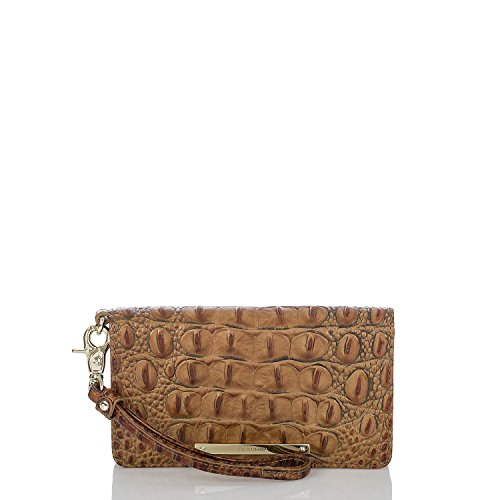 BRAHMIN Debra Toasted Almond Melbourne Wallet Genuine Leather Wrislet