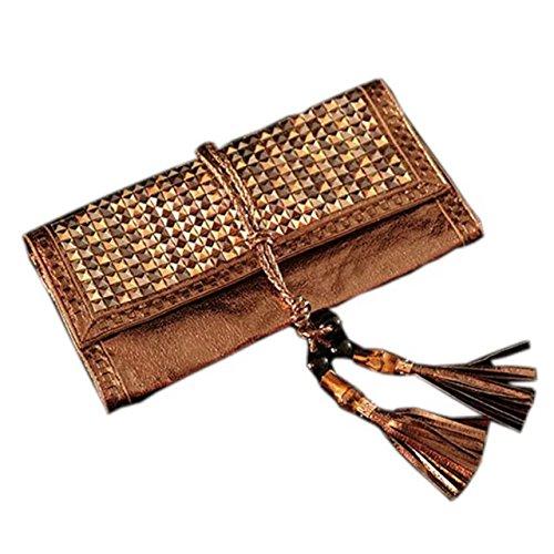 handmade knit/weave bamboo rattan straw clutch bag/handbag