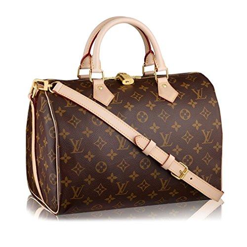 da59347c26671 Louis Vuitton Monogram Canvas Speedy Bandouliere 30 Article:M41112 Made in  France
