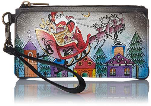 Anna by Anuschka Organizer Wallet   Genuine Leather   Riding With Santa