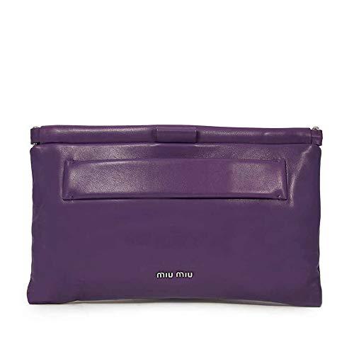 Miu Miu Nappa Leather Clutch – Purple