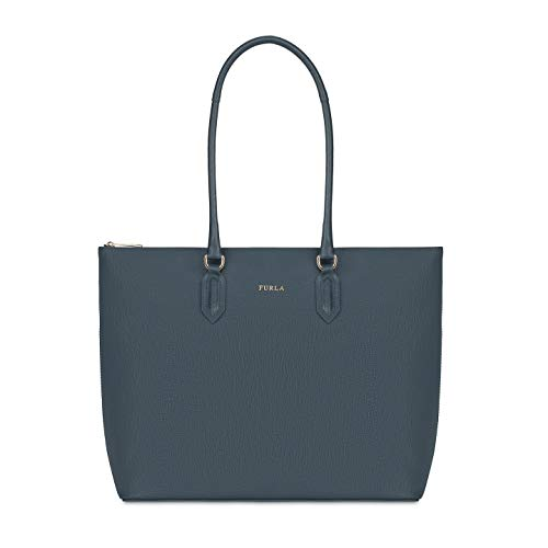 Furla Pin Ladies Medium Gray Ardesia Leather Tote 978767