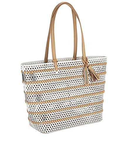 Loeffler Randall Loeffler Randall Women's Beach Tote Bag White/Silver/Natural Handbag