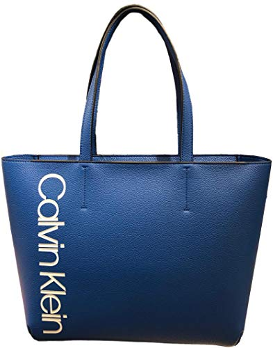Calvin Klein Haley Signature Tote, Blue
