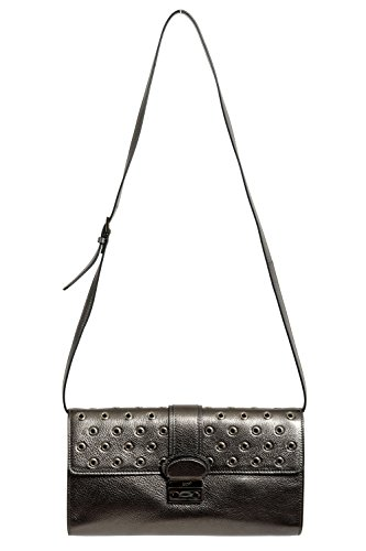 Red Valentino Leather Gray Women's Clutch Shoulder Bag