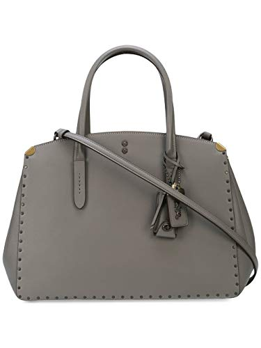 Coach Cooper Carryall Tote Satchel With Rivets BP/HGR Heather Grey